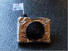 Fototoestelletje van kruidkoek.....verjaardag Emma 6 jaar