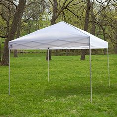 White 10Ft x 10Ft Outdoor Canopy Tent Gazebo with Steel Frame and Carry Bag >>> Continue to the product at the image link.