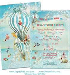Alice In Wonderland Tea at Four O'Clock Invitations by papernosh,