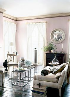 *beautiful use of lavender to create a warm mood in a room