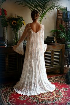 Lace Bridal Nightgown Full Swing Poets Ruffled Lingerie French