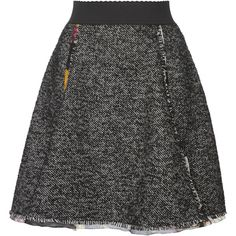 Dolce & Gabbana Tweed Mini Skirt (56.730 RUB) ❤ liked on Polyvore featuring skirts, mini skirts, a-line skirts, short skirts, elastic waist skirt, dolce gabbana skirt and tweed a line skirt