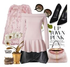 """""""Pink goes punk with yoins"""" by pensivepeacock ❤ liked on Polyvore featuring Dot & Bo, Fendi, H&M, Giambattista Valli, Rodarte and Tommy Mitchell"""