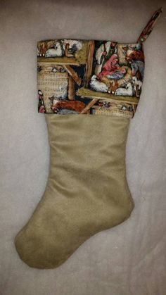 Check out this item in my Etsy shop https://www.etsy.com/listing/227889224/nativity-scene-christmas-stocking-baby