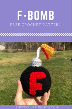 """Free Crochet Patter for the """"F-Bomb"""""""