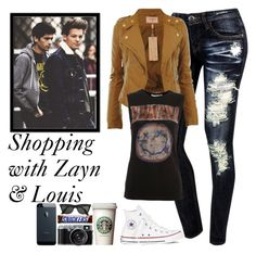 """""""day with zayn and louis"""" by gabriela-benitez ❤ liked on Polyvore featuring мода и Converse"""