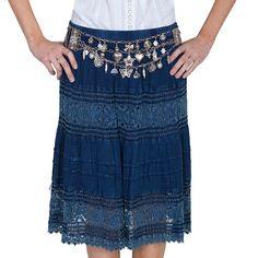 Scully Women's Crochet Panel Skirt