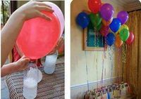 No helium needed to fill balloons. just vinegar and baking soda! No helium needed to fill balloons for parties.just vinegar and baking soda! I NEED TO REMEMBER THIS! this is important since helium is not a renewable source and is in such short supply Blowing Up Balloons, Helium Balloons, Flying Balloon, The Balloon, Floating Balloons, Helium Gas, Turtle Party, Ideas Para Fiestas, Diy Projects To Try