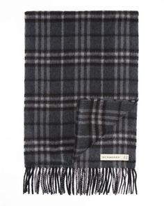 Burberry London Icon Cashmere Check Muffler