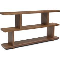 Aurelle Home Open Style Walnut Wood Storage Bookcase