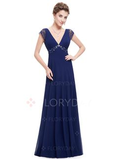Dress - $68.46 - Solid Lace V-Neckline Maxi A-line Dress (1955101653)