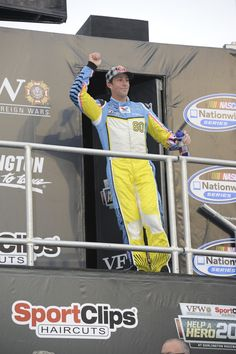 Travis Pastrana waves to fans during the 2013 VFW Sport Clips Help A Hero 200 on May 10th.  © 2013 Harrelson Photography, Inc