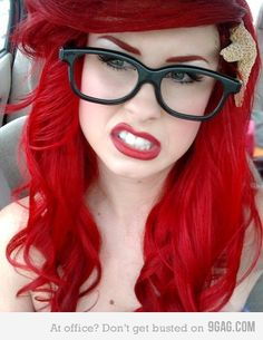 Hipster Ariel. LOVE her hair, though.