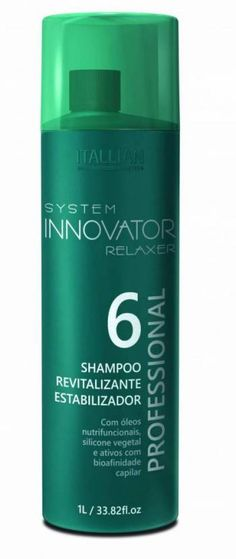 Shampoo Revitalizante Estabilizador 6 é indicado para cabelos quimicamente tratados com alisamentos e relaxamentos que proporciona o máximo de brilho e maciez para fios sem frizz. Innovation, Shampoo, Personal Care, Bottle, Argan Oil, Glow, Strands, Hair, Self Care