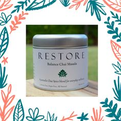 """@restore_simply sent me some of their amazing Balance Chai to sample for our new quarterly vegan lifestyle box Hello Vegan. I'm a huge chai fan and this is the best ever! Head over to our landing page and join our wait list! www.hellovegan.co """"Ancient Ayurvedic wisdom, captured within Restore's Balance Chai Masala, the flagship blend. It comes from a family recipe has journeyed through four continents, evolving into its modern day interpretation."""