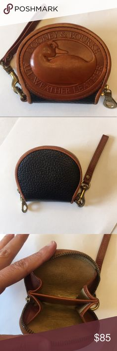 "Vintage Dooney And Bourke Big Duck Coin Purse Vintage D&B Big Duck Coin Purse in Navy and British Tan. In great condition. Metal RiRi zipper that works smoothly. Cute Highly sought after Vintage Piece. Clean interior and exterior. Approx 3.5""H x 3"" L smoke free home. Dooney & Bourke Bags Wallets"
