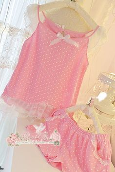 oh so frilly and pink , my colors my idea of being a girly girl, I would love to awaken with this little pink attire softly hugging my breasts and little clitoris
