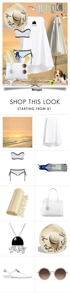 """""""Do not disturb..."""" by striggla ❤ liked on Polyvore featuring FOOTPRINTS, Timo Weiland, Linum Home Textiles, Armani Jeans, NOVICA, Eugenia Kim and Linda Farrow"""