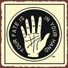 Palm Read Rustic Metal Art Sign --> http://All-About-Tarot.com <--