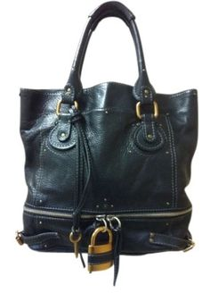 Chloe Large Paddington Shopper  W/lock And Key Black Tote Bag $696