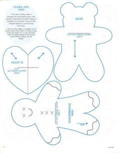 La boîte à fournitures : - du fil - des aiguilles - de la feutrine (couleur au choix) - du carton - du ruban Les patrons pour des figurines en tissus à accrocher au sapin ou à offrir : Réalisation ...