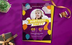 Birthday Party - Invitation Youre Invited, Print Templates, Text Color, Birthday Party Invitations, Card Sizes, Lorem Ipsum, Fun, Card Templates Printable, Birthday Invitations