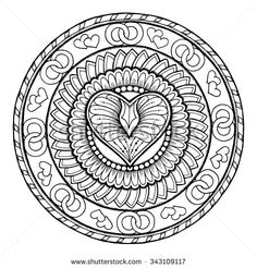 coloring pages adults circle - photo#46