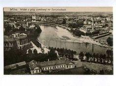 Lithuania-Vilnius-view-fr-Castle-Hill-Vintage-postcard