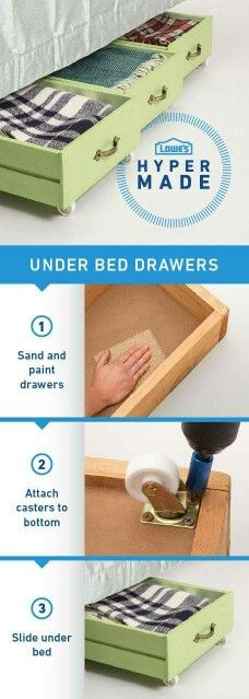 fabulous ways to repurpose old dresser drawers Transform old dresser drawers into the perfect storage solution for under your bed.:Transform old dresser drawers into the perfect storage solution for under your bed. Old Dresser Drawers, Under Bed Drawers, Under Bed Storage, Toy Storage, Storage Drawers, Extra Storage, Craft Storage, Underbed Storage Ideas, Movie Storage