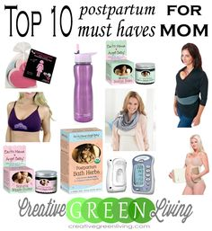 Postpartum Must Haves - 10 things every new mom needs. So many great ideas for things to help new mamas recover and get their groove back.