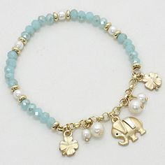Lucky Ellie Bracelet in Aspen Blue Crystal on Emma Stine Limited
