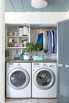 """Fantastic """"laundry room storage diy small"""" info is available on our internet site. Read more and you wont be sorry you did. Laundry Room Tile, Farmhouse Laundry Room, Small Laundry Rooms, Laundry Room Organization, Laundry Room Design, Laundry Decor, Laundry Closet Makeover, Farmhouse Small, Laundry Area"""