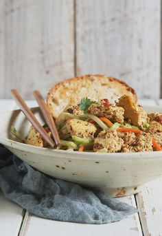Vegan Bánh Mi Scramble from Even More Vegan Food Substitutions