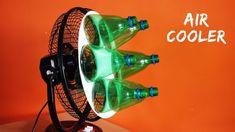 """Eine """"Klimaanlage"""" aus einem Ventilator und Plastikflaschen basteln Make an """"air conditioner"""" out of a fan and plastic bottles Homemade Ac, Homemade Air Conditioner, Pet Bottle, Alternative Energy, Plastic Bottles, Inventions, Survival, Diy Projects, Roatan"""