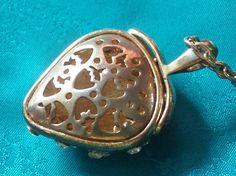 Vintage Strawberry Pomander Necklace by FunkydevazVintage on Etsy