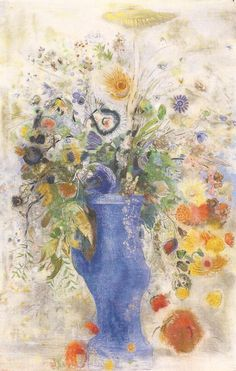 Odilon Redon, French painter and pastelist (1840-1916).