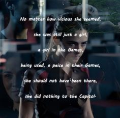Clove ❤ I hate when people clap for her death while watching the movie. It's barbaric. Hunger Games Memes, Clove Hunger Games, Hunger Games Fandom, Hunger Games Catching Fire, Hunger Games Trilogy, Cato Hunger Games, Glimmer Hunger Games, Catching Fire Quotes, Tribute Von Panem
