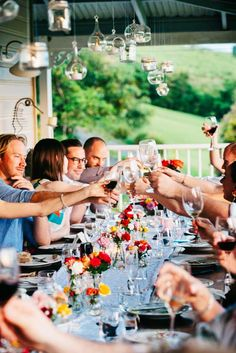 Gorgeous gathering to celebrate a wedding - on the verandah at Byron Plantation.   Photograph: Lara and Susie Photography