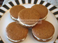Gingerbread Whoopie Pies - Buttoni's Low Carb Recipes.  Visit us for more lovely recipes: https://www.facebook.com/LowCarbingAmongFriends
