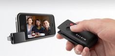 Belkin's LiveAction iPhone camera accessory. This would be great for a DIY Photo Booth!