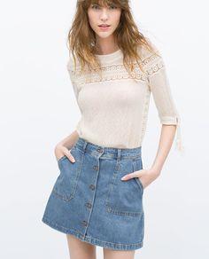 retro mini jeans skirt