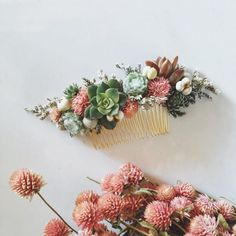This Not-So-Floral Wedding Hair Trend Is Going to Rule the 2017 Wedding Season via Brit + Co
