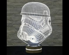 Stormtrooper Shape, Star Wars, 3D LED Lamp, Kid's Room Decor, Amazing Effect, Nursery Light, Plexiglass Lamp, Decorative Lamp, Acrylic Lamp by ArtisticLamps
