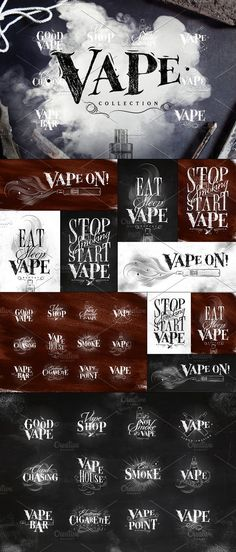 Vape Collection by Anna on @creativemarket