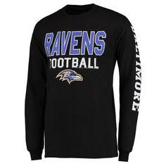 cf497fd2f Baltimore Ravens Junk Food Classic Team Sport Long Sleeve 2 Hit T-Shirt -  Black