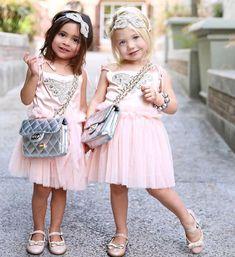 Everleigh and Ava Pretty Kids, Cute Kids, Cute Little Girls, Sweet Girls, Baby Girls, Cute Girl Dresses, Flower Girl Dresses, Baby Momma Dance, Forever And Forava