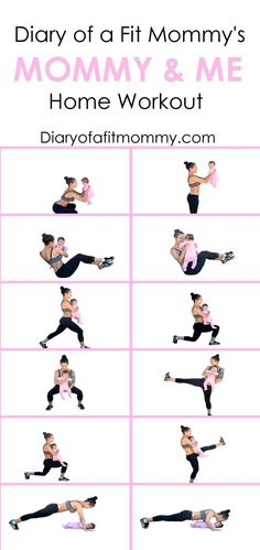 Losing the Baby Weight: Mommy & Me Home Workout - Diary of a.-Losing the Baby Weight: Mommy & Me Home Workout – Diary of a Fit Mommy At-home workouts with baby - Fitness Workouts, Fun Workouts, At Home Workouts, Fitness Tips, Fitness Motivation, Health Fitness, Fitness Goals, Workouts With Kids, Women's Health