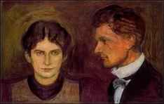 Edvard Munch - Aase and Harald Norregaard, 1899.