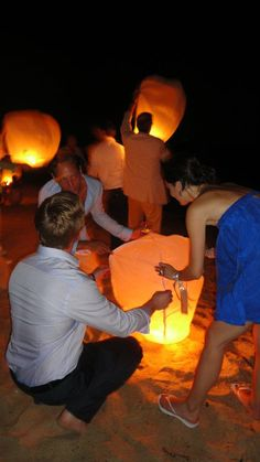 In the evening, we'd set off lanterns into the night sky!