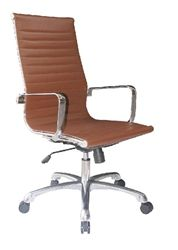 Brown leather office chair with contemporary style from the Woodstock Joplin collection at OfficeAnything.com. $259.99